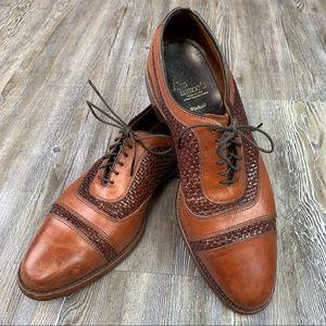 Allen Edmonds Brown Lace Up Dress Shoe Size 9